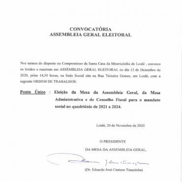 Convocatória de Assembleia Geral Eleitoral