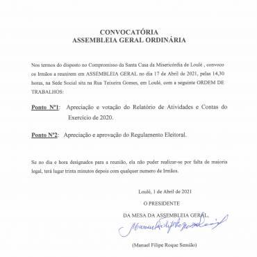 Convocatória de Assembleia Geral Ordinária